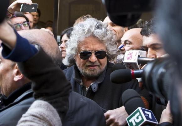 Beppe Grillo al Quirinale per l'incontro con Napolitano