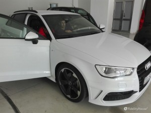 Audi A3 S Line bianco metallizzato